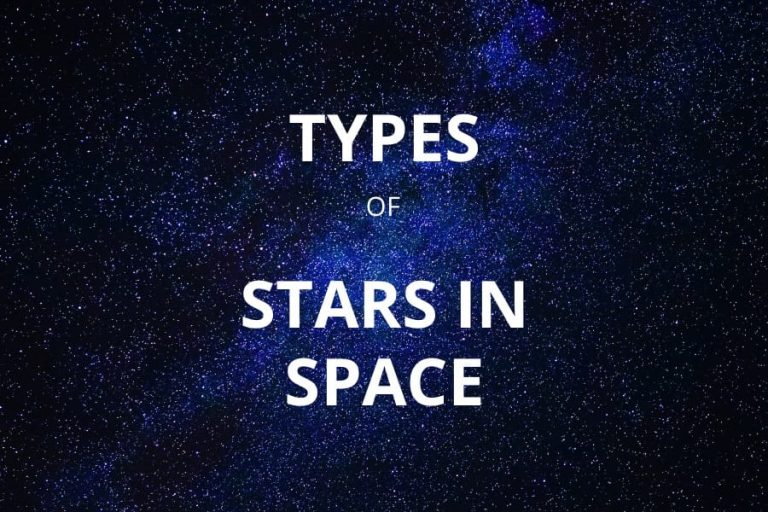 TYPES OF STARS IN SPACE